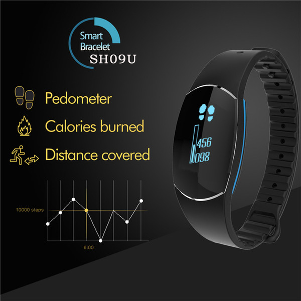 SH09U Smart Bracelet Wristband Pedometer Heart Rate Blood Pressure Sleep Monitor Waterproof Sports Tracker Watch For Android/iOS