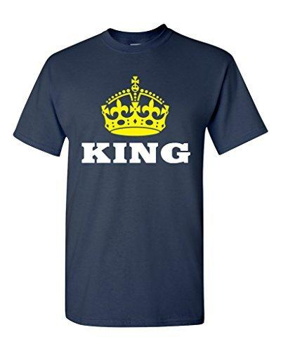Mens Graphic Tees Crew Neck Men Design Short Sleeve King Gold Crown Couple Love Matching Relationship Funny T Shirts