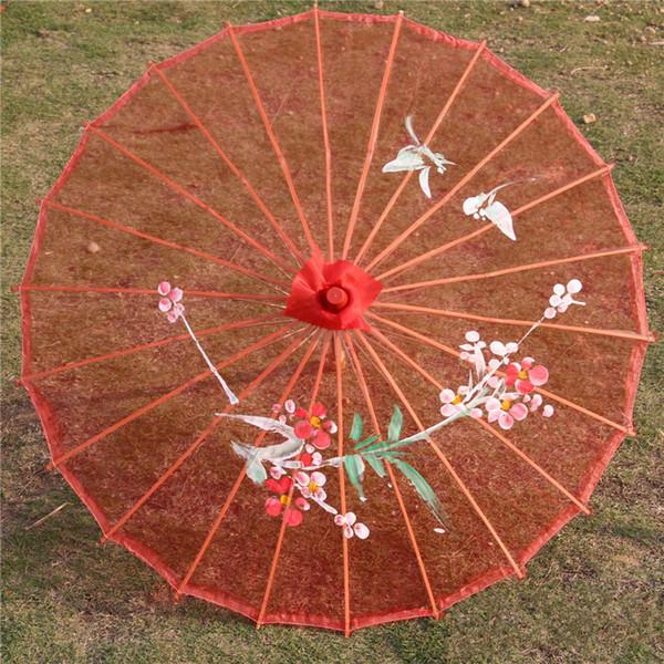 Paraguas de la boda Sombrillas Sombras de sol chinas largas rectas rectas Regalo de boda Favores de partido al por mayor