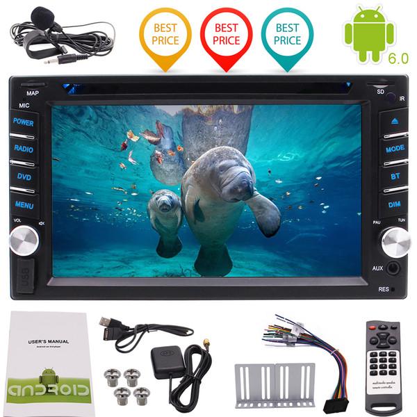 6.2 '' Car rádio 1080 P Espelhamento De Vídeo Wi-fi USB / SD Quad Core Android6.0 Carro DVD Player Duplo Din Car Stereo Navegação GPS