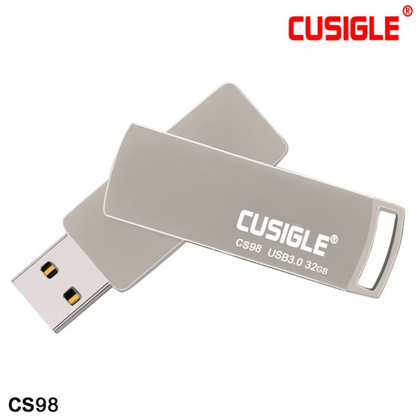 The Silver Rotating USB Flash Drives 2.0 Stick Real Capacity 16GB 32GB 64GB 128GB 256GB For CUSIGLE CS98
