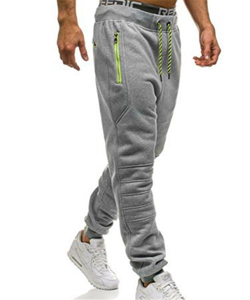 Sweatpants Men Zipper Pockets Solid Color pantalon hombre Casual Trousers Men Clothes 2018 Joggers Pants Man fashion Street Wear Y1892811