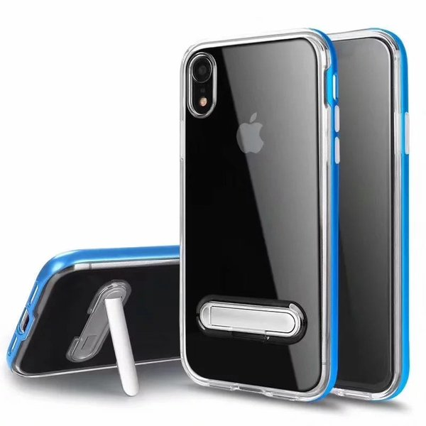 Defender Case For iPhone XS Max XR Hybrid Armor Cases With Kickstand Hard Plastic Rubber Phone Cover Case 8 Colors With Retail Box