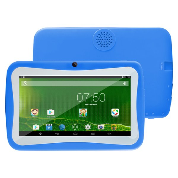 """Kids Tablet PC 7"""" Quad Core children tablet Android 4.4 Allwinner A33 google player wifi + big speaker + protective cover Q704"""
