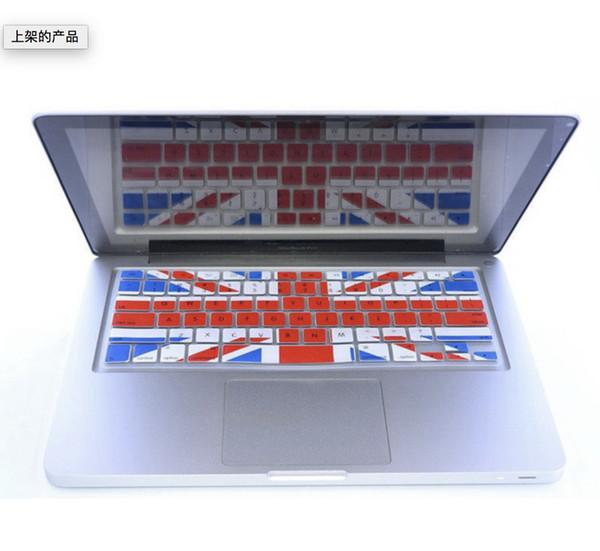 UK England Großbritannien Großbritannien FLAG Silikon Tastatur Cover Skin Protector Film Aufkleber für Macbook Pro 13 15 17 für Mac 13.3