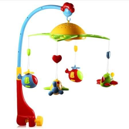 Star Projector Musical Crib Mobile Bed Bell Baby Rattle Rotating Bracket Projecting Toys for 0-12 Months Newborn Kids Christenin