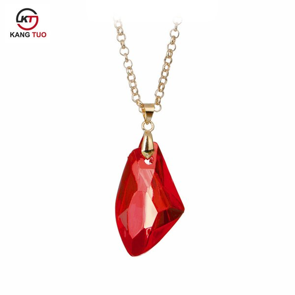 Movie Harry Jewelry The Sorcerer's Red Crystal Magic Philosophers Stone Necklace Fashion Acrylic Pendants For Women&Men