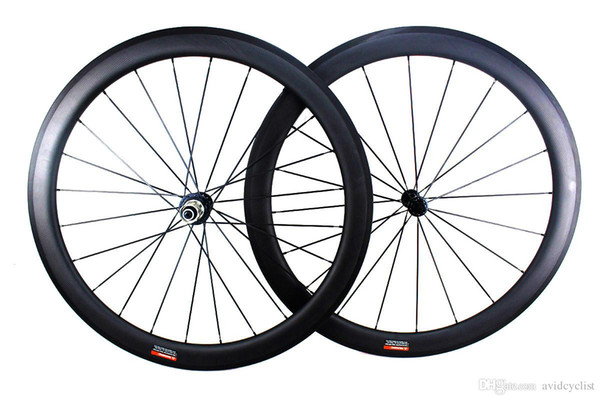 carbon fiber road bike wheee 50mm clincher tubular road bicycle 700C wheelset with Powerway hub width 25mm basalt brake surface