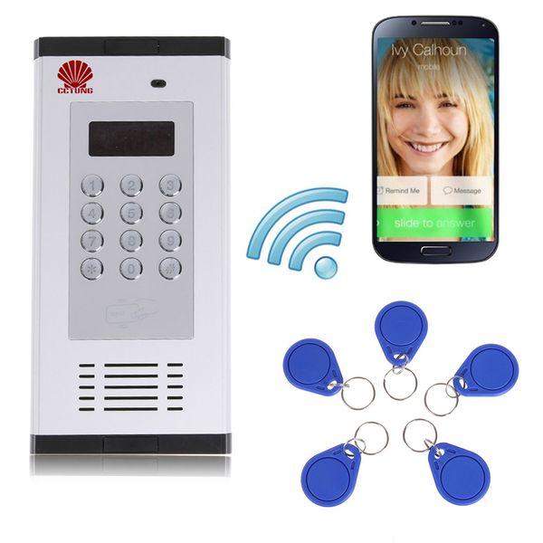 Sistema de control de acceso de intercomunicación de apartamento GSM 3G Soporte de puerta abierta por llamada de teléfono RFID SMS Comando Control remoto abridor de puerta