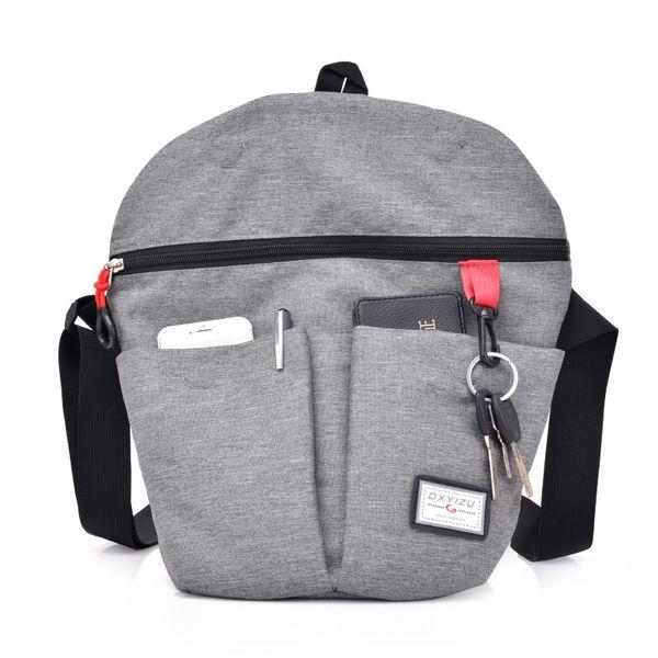 New Men Denim Shoulder Bag Fold Over Handbag Small Women Messenger Bags Male Folded Crossbody Tote Bag Grey Unisex Bolsa