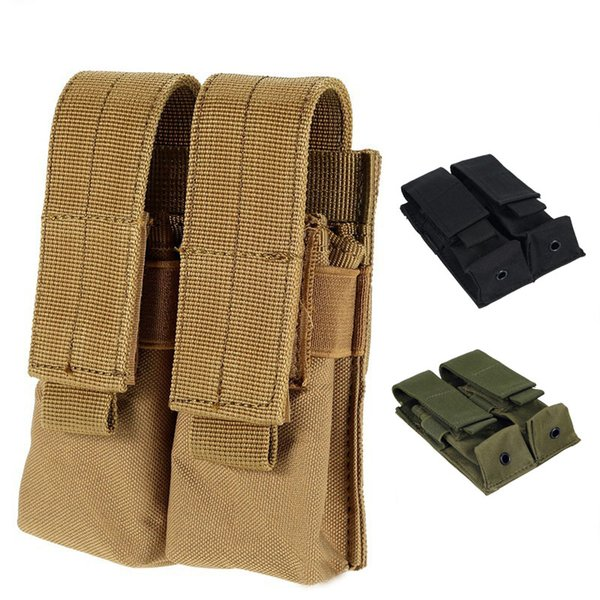 Mag Holder Cartridge Clip Pouch Pistol Handgun Tactical MOLLE Double Magazine Pouch NO11-537
