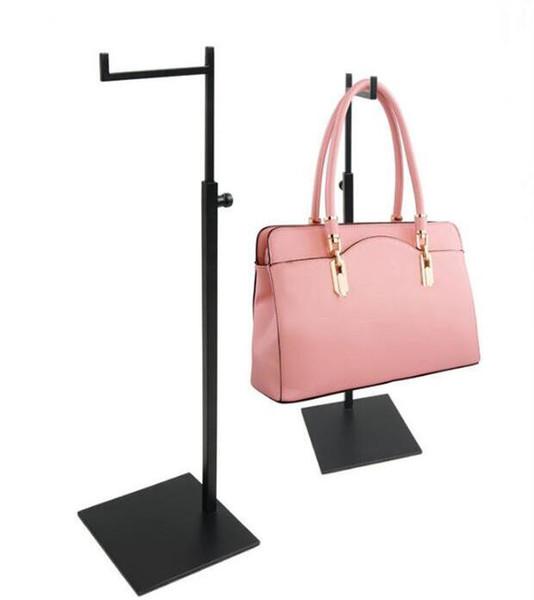 Neue Ankunft Handtasche Display Ständer Stainess Stahl Rucksack Display Rack verstellbare Metall Taschen Perücke Geldbörse Display Halter Rack kostenloser Versand