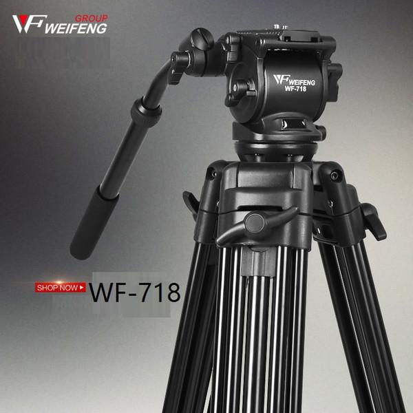 DHL weifeng 718 WF718 Professional Video Tripod DSLR Camera Heavy Duty Tripod with Fluid Pan Head wholesale