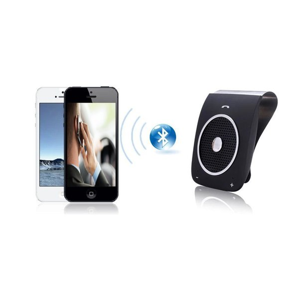 Bluetooth Car Kit Speakerphone Noise Cancelling Multipoint Wireless Handsfree Kit Clip On Sun Visor Car Audio for xiaomi huawei