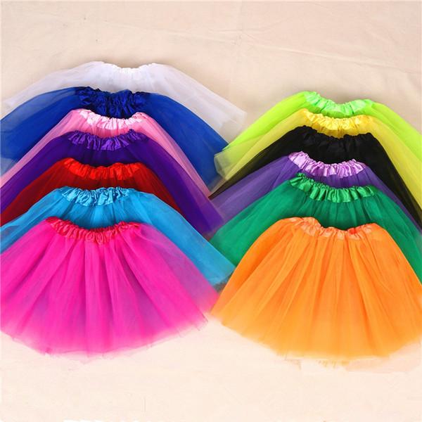 15 colores de calidad superior del color del caramelo adultos tutus falda vestidos de baile vestido tutu suave falda de ballet pettiskirt ropa 100 unids / lote T2I367
