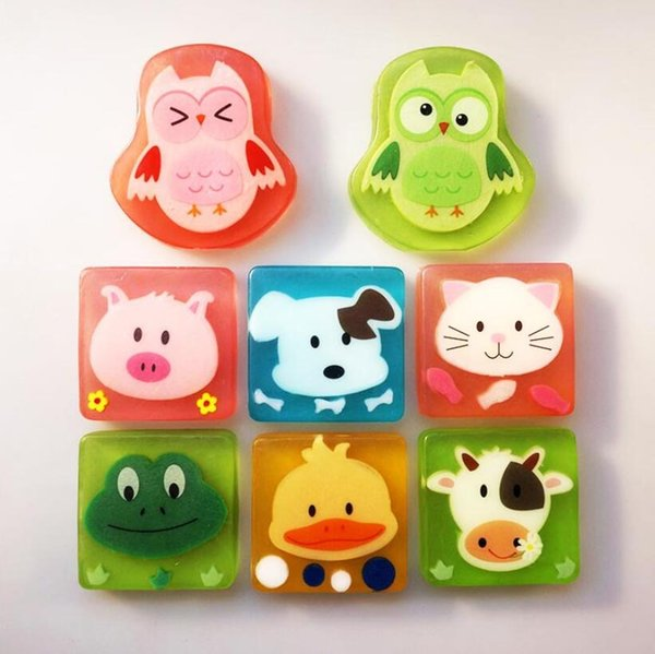 Cute Creative Cartoon Animal Bath Body Works Silicone Portable Fruit Handmade Soap 100g Skin Care for Children and Adult Gift