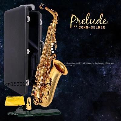 2018 United States CONN SELMER Alto Saxophone Down E Tune Upscale Saxophone  AS 710 Electrophoresis Gold & Hard Box Student Alto Saxophone Alto