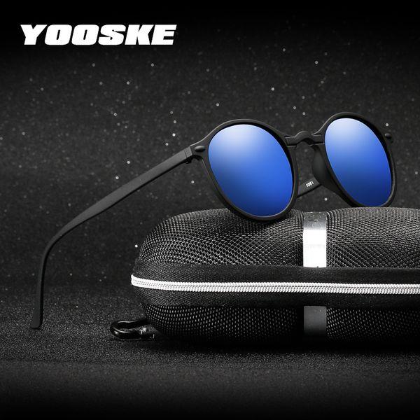 feae84007e724 Yooske Visão Noturna Óculos Polarizados Óculos De Sol Das Mulheres Dos Homens  Óculos Redondos UV400 Óculos