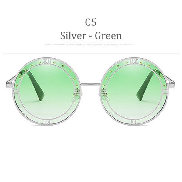 C5 Argento Gradiente Verde