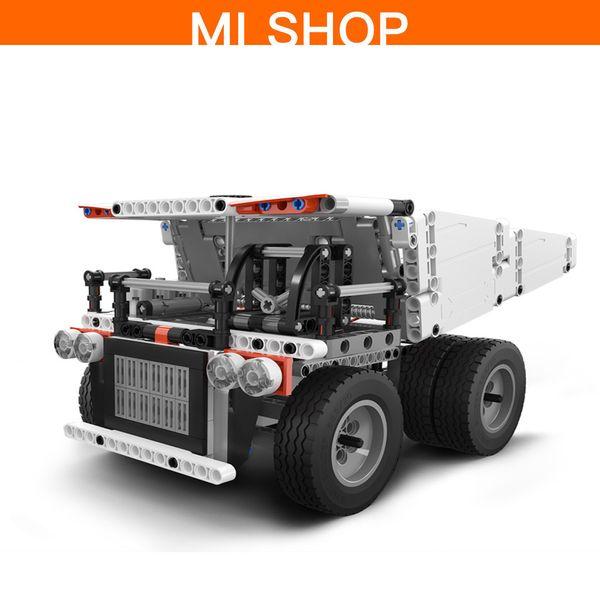 D'origine Xiaomi Mitu Building Block Mine Camion Contrôle Au Volant Dump Lift Intelligent Télécommande Pour Les Enfants