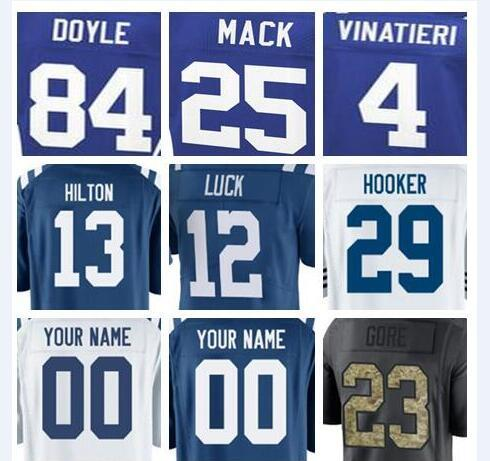 size 40 240f0 cb1b3 2019 Indianapolis Andrew Luck Colts Jersey Custom Malik Hooker Peyton  Manning Authentic Sports Youth Kids American Football Jerseys Women Cheap  From ...