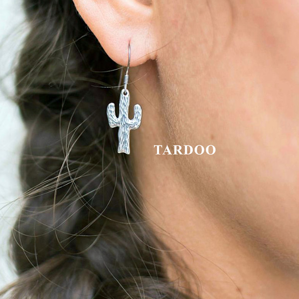 Tardoo Fashion Cactus 925 Sterling Silver Drop Earrings Female Minimalist Cacti Post Earrings Brincos Party Girl Gifts Women S18101206