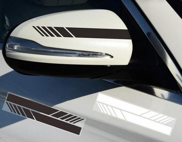 top popular 2pcs set Universal Auto Rearview Mirror Side Decal Stripe DIY Decoration Exterior Sticker Fit For bmw audi benz porsche honda toyota ford 2021