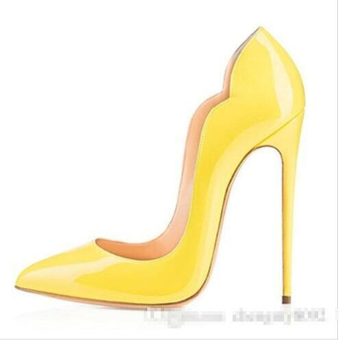 Sexy Purple Shoes Woman Patent Leather High Heels Pumps Stilettos Womens Shoes High Heels Sexy 12CM Ladies Heels Wedding Shoes For Wom