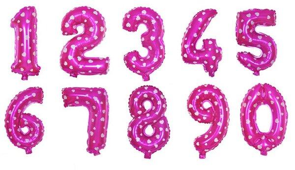 numeri rosa da 0 a 9