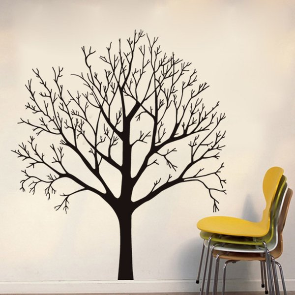 Tree Wall Stickers PVC Self-adhesive Wallpapers Waterproof Can Be Removable Arts Decal Environmental Protection Sitting Room Bedroom Decor