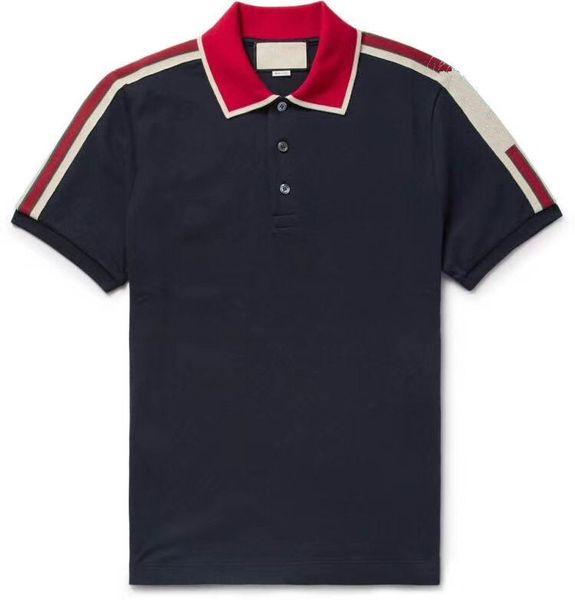 Polo de coton de piste avec rayure t-shirt pour homme nouveau arrivé polo de marque de contraste marque polo g t-shirt hommes mode polo