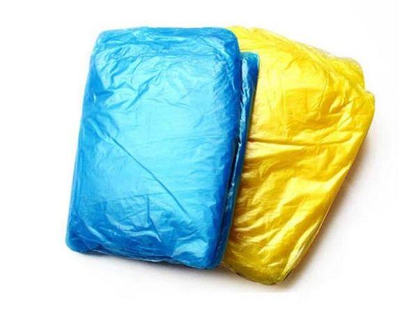 Fashion Hot Disposable PE Raincoats Poncho Rainwear Travel Rain Coat Rain Wear gifts mixed colors