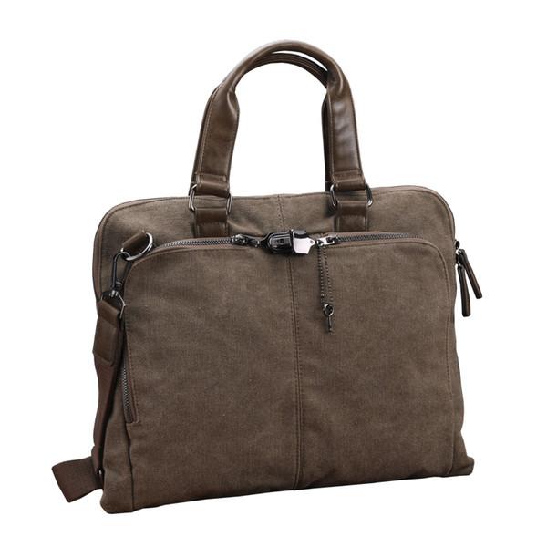 Wearable Canvas Briefcase Business File Portfolio Men Messenger Bags Notebook Maleta Business Dealings Wear File Pocket Notepad