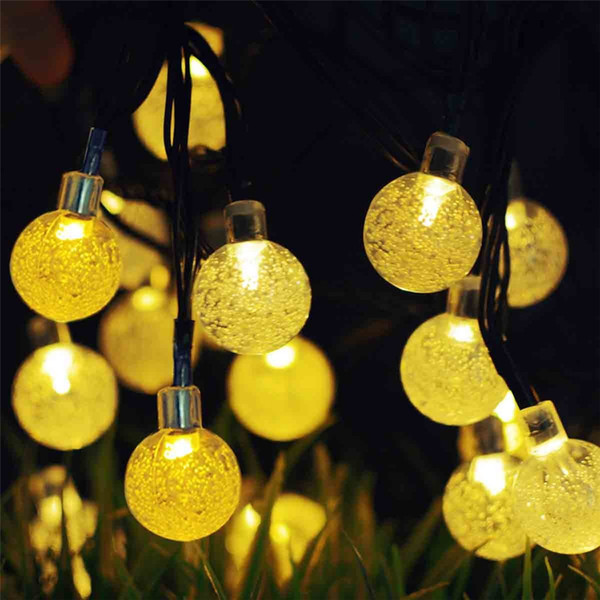 Bubble beads Solar String Light 30 LED Waterproof Solar Power String Lights for Party,gardens,outdoor,home,holiday Decorations (Multicolor)