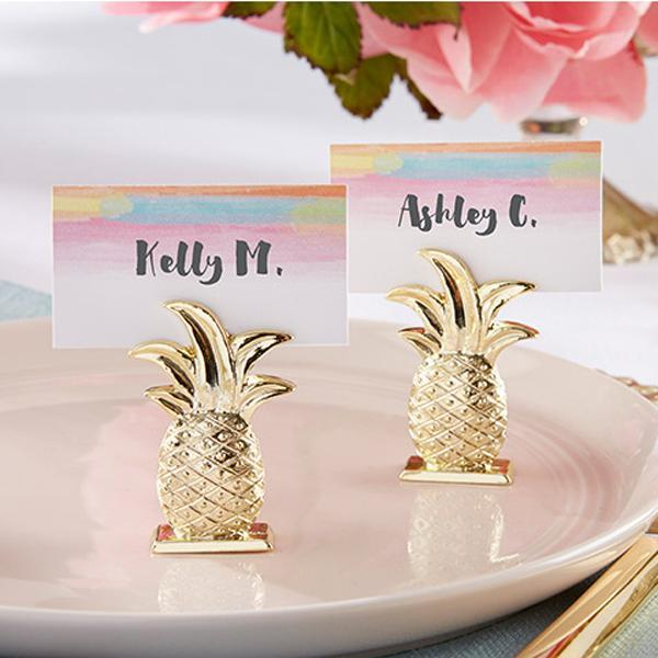 Promotion 150pcs/lot Wedding Favors Gold Pineapple Place card holder Table decoration name card holder Free shipping
