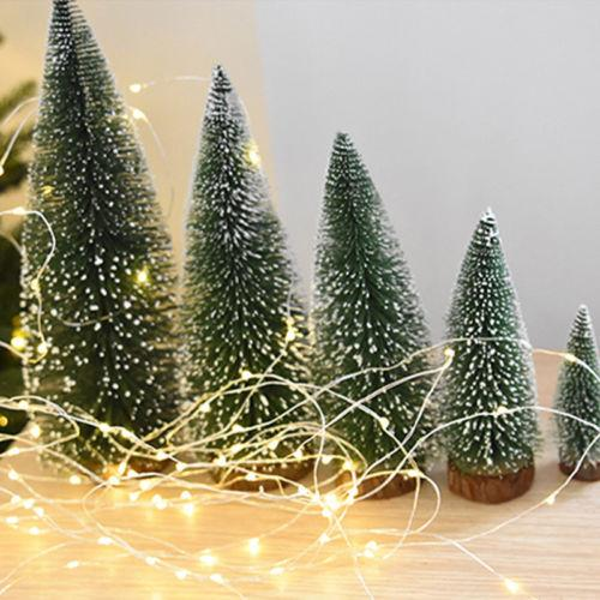 Green Snowflakes Mini Artificial Christmas Tree Festival Party Xmas Ornament Decoration 10cm 15cm 20cm