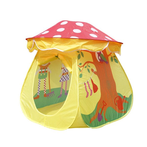 Portable Tent Toy Children Boys Girls Mushroom House Tent