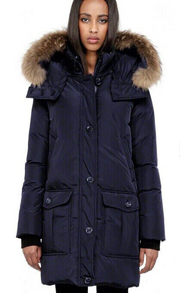 Women/men Parkas LONG WINTER Mack-age-CHASK-2 Down & Parkas WITH HOOD/Snowdome jacket Brand Real Raccoon Collar White Duck Outerwear & Coats