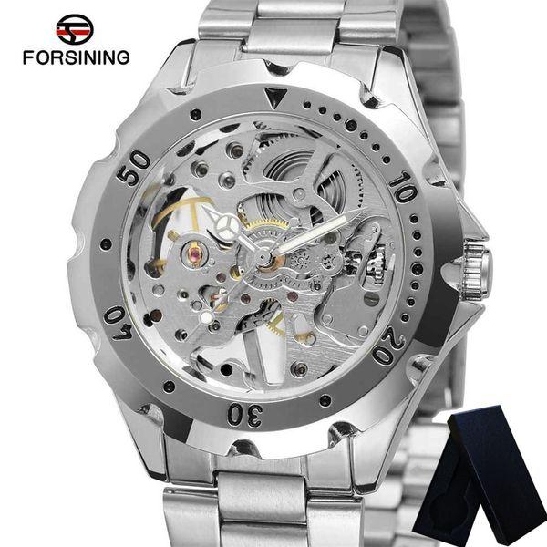 Forsining Montre Mécanique Mens Montres Étanche Squelette Hommes Horloge Top Marque Sport Sport Armée Homme Montre-Bracelet 0071