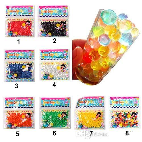 500pcs New Pearl shaped Crystal Soil Water Beads Mud Grow Magic Jelly balls wedding Home Decor c145