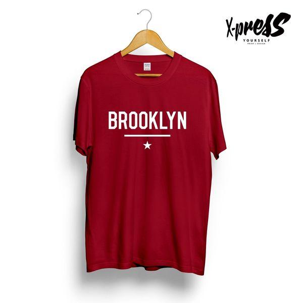 BROOKLYN STAR IMPRIMÉ MENS TSHIRT NYC NEW YORK CONEY ISLAND STREET SWAG STYLEFunny livraison gratuite Unisexe Casual tee cadeau