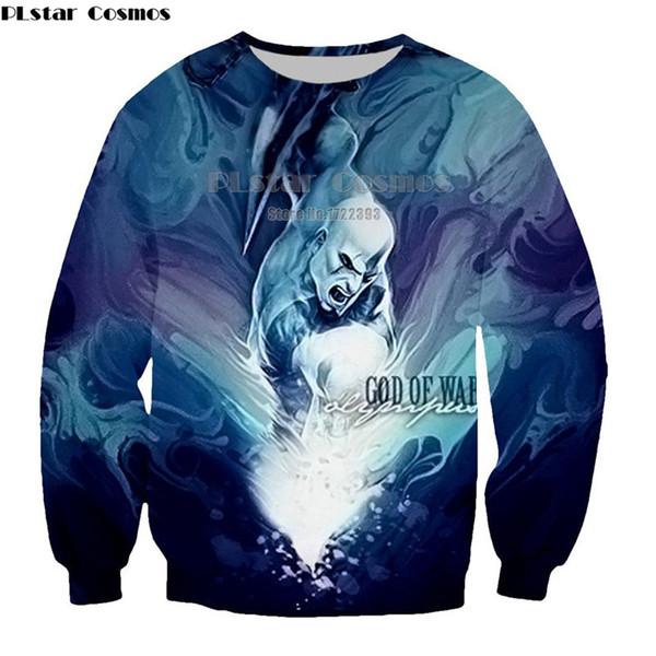 PLstar Cosmos God of War Kratos 3d Printed Sweatshirts for Men/Women O-neck Long Sleeve Pullovers Unisex Fashion Tracksuits