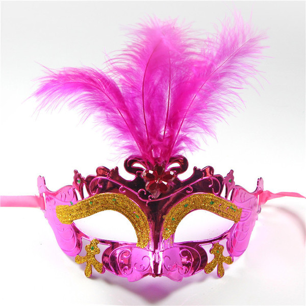 Supper Children Kids Mini Mask Venetian Masquerade Feather Mask party decoration cute wedding gift Carnival Mardi Gras Prop mix color