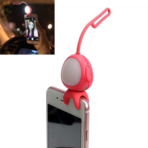 Selfie Light for Cell Phone Camera LED Flash Fill Light for iPhone IOS Android Silicone Clip USB Rechargeable Lamp