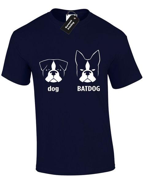 DOG BAT DOG MENS T SHIRT FUNNY MAN UNISEX DESIGN QUALITY SUPERHERO LOVER JOKE Cartoon t shirt men Unisex