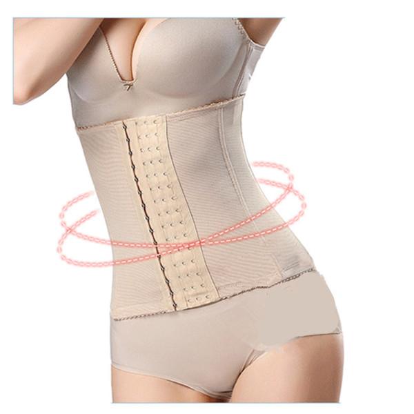 Cintura de las mujeres Cinturones de adelgazamiento Ganchos anchos Body Shaper Belly Trimmer Control Cintura Cinchers Corsés Gimnasio Shapers Volver Brace Fajas