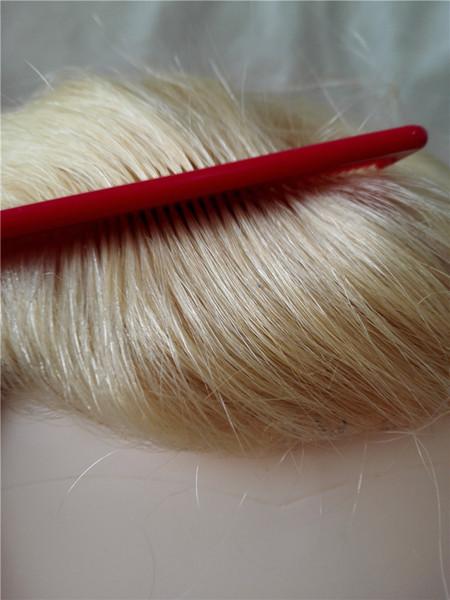 Custom order European Women Wig Self Hairpiece Magic clip ins Closure Blond Top Piece Clip Sense Crown Toupee Secret Small Base