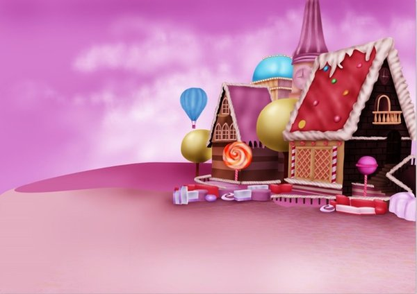 Christmas Candyland Backdrop.2019 7x5ft Pink Clouds Sky Candyland Chocolate House Candy Bar Beans Land Custom Photo Studio Background Backdrop Vinyl 220cm X 150cm From