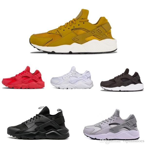 Großhandel Nike Air Max Designer Shoes Supreme Off White Vapormax Huarache 1.0 Triple Weiß Schwarz Rot Huraches 4.0 IV Gold Grau Turnschuhe Männer