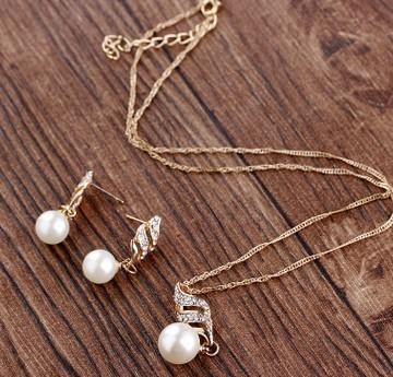 high quality low price wonderful diamond crystal wedding set necklace earings (2.8)jgh